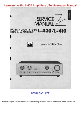 luxman l 55 a amplifier service repair manual