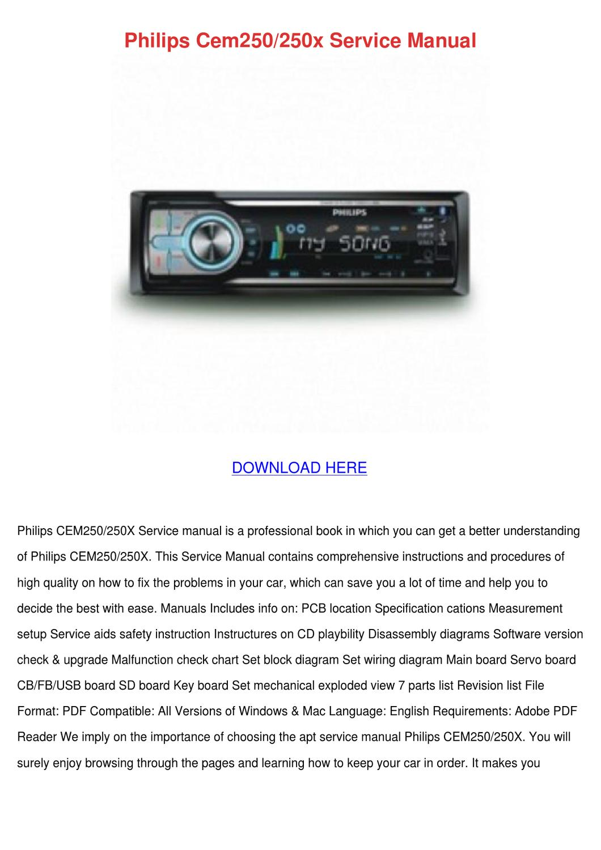 Philips Cem250250x Service Manual By Hughgainey Issuu Windows 7 Block Diagram