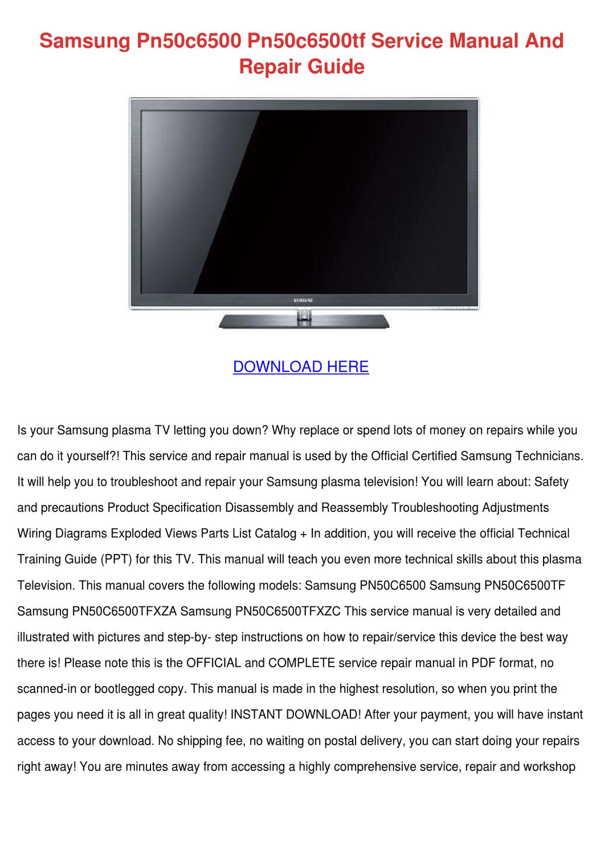 samsung pn50c6500 pn50c6500tf service manual by Wiring Money Internationally Floating Money