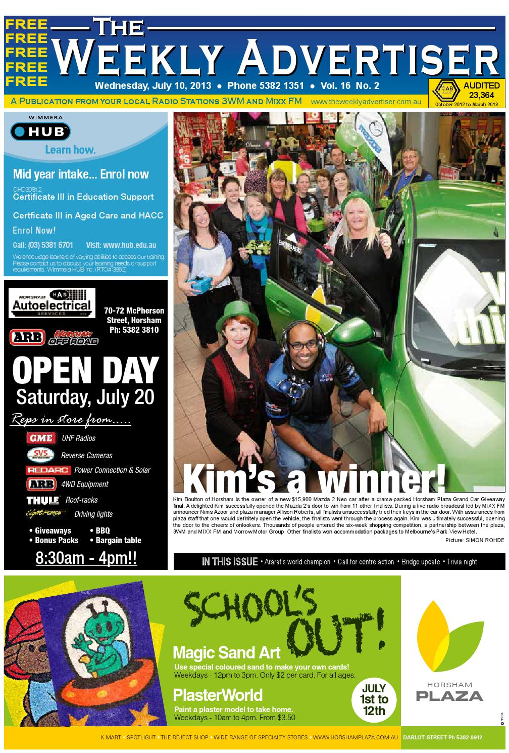 The Weekly Advertiser - Wednesday, July 10, 2013 edition by