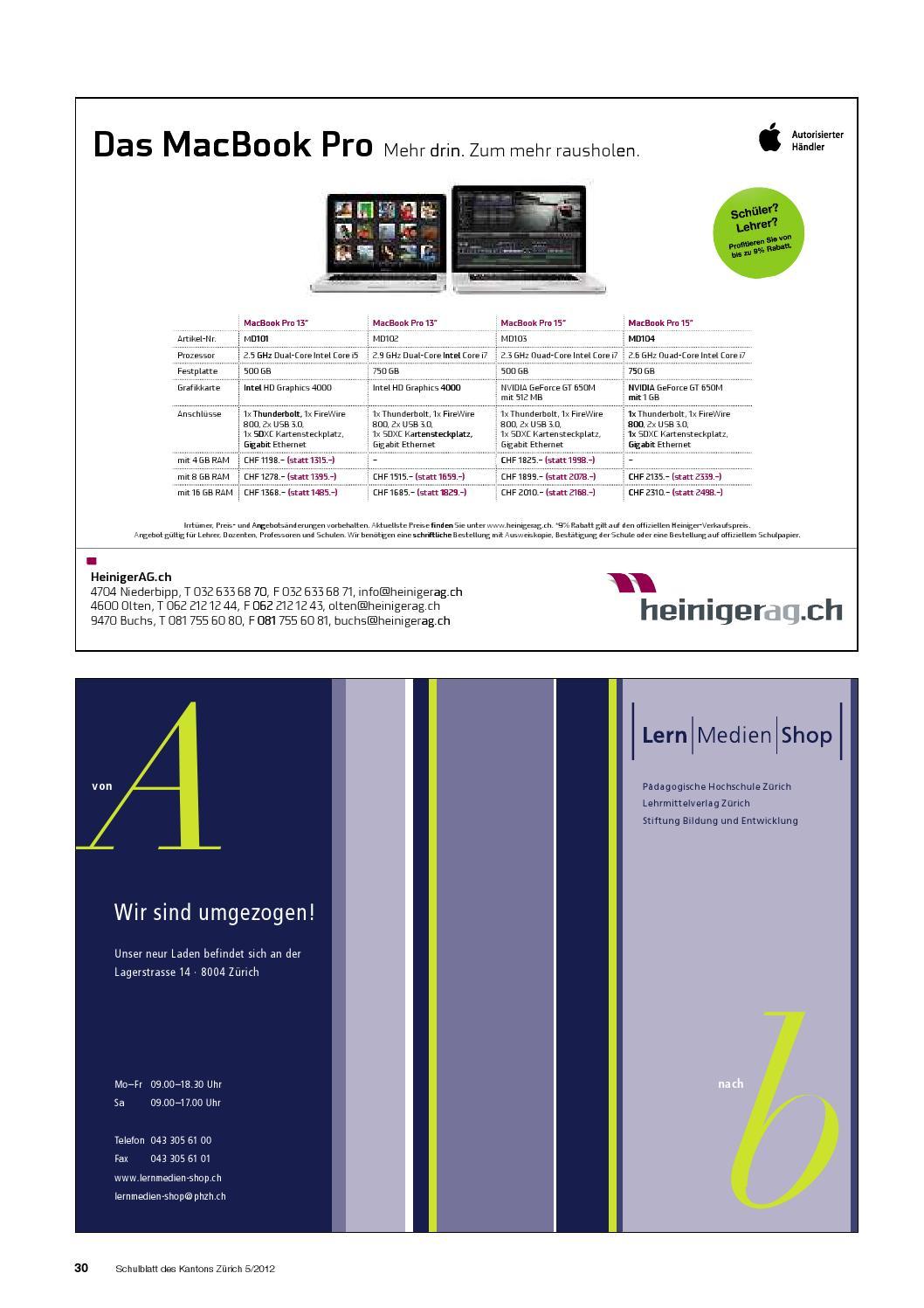 Sdxc Kartensteckplatz.Schulblatt 5 2012 By Schulblatt Kanton Zurich Issuu
