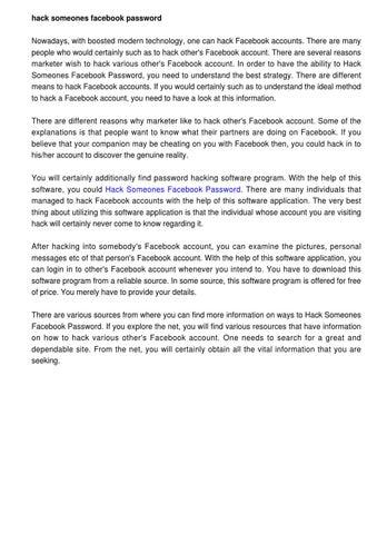 Hack Someones Facebook Password by Vilma Kuchel - issuu