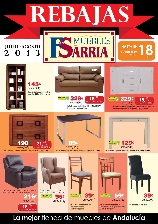Catalogo muebles sarria julio 2013baja by for Catalogo muebles sarria