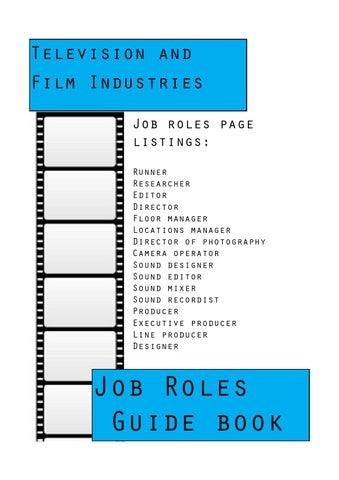 Media Job Roles Guidebook by kirkdelay3 - issuu