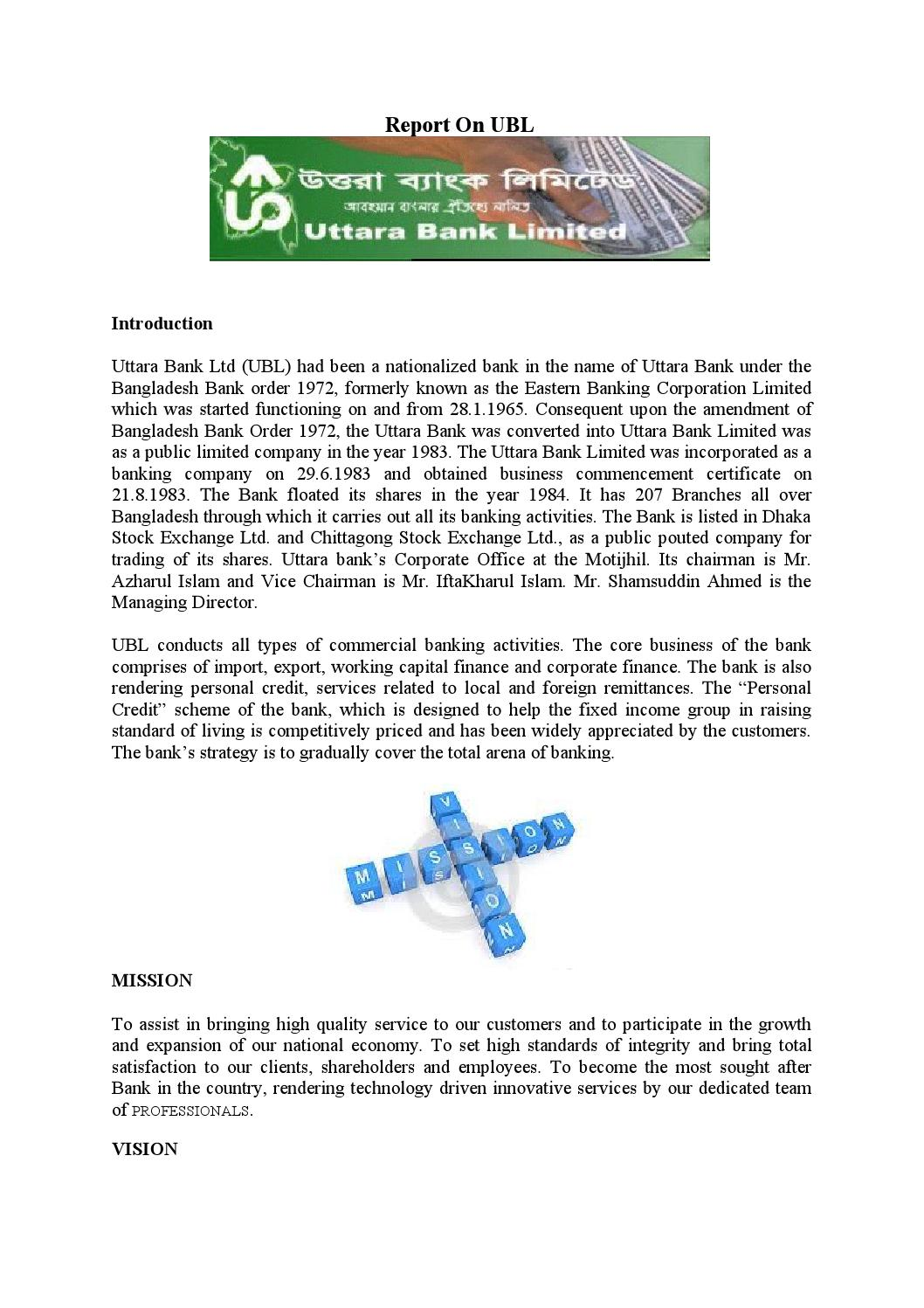 credit rating of uttara bank limited essay Internship report on an analysis of financial performance and foreign exchange activities of uttara bank limited course name: internship (bus-699.