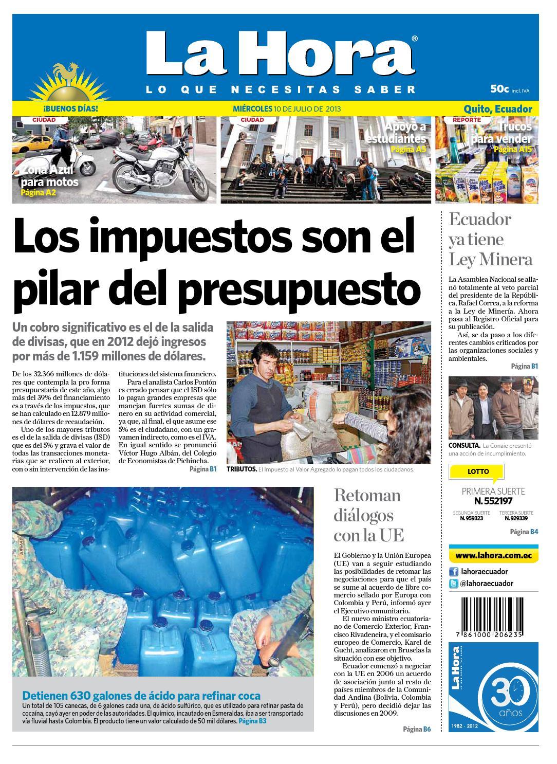 Edici N Impresa Quito Del 28 De Mayo De 2014 By Diario La Hora  # Alejandra Hoeffner Muebles