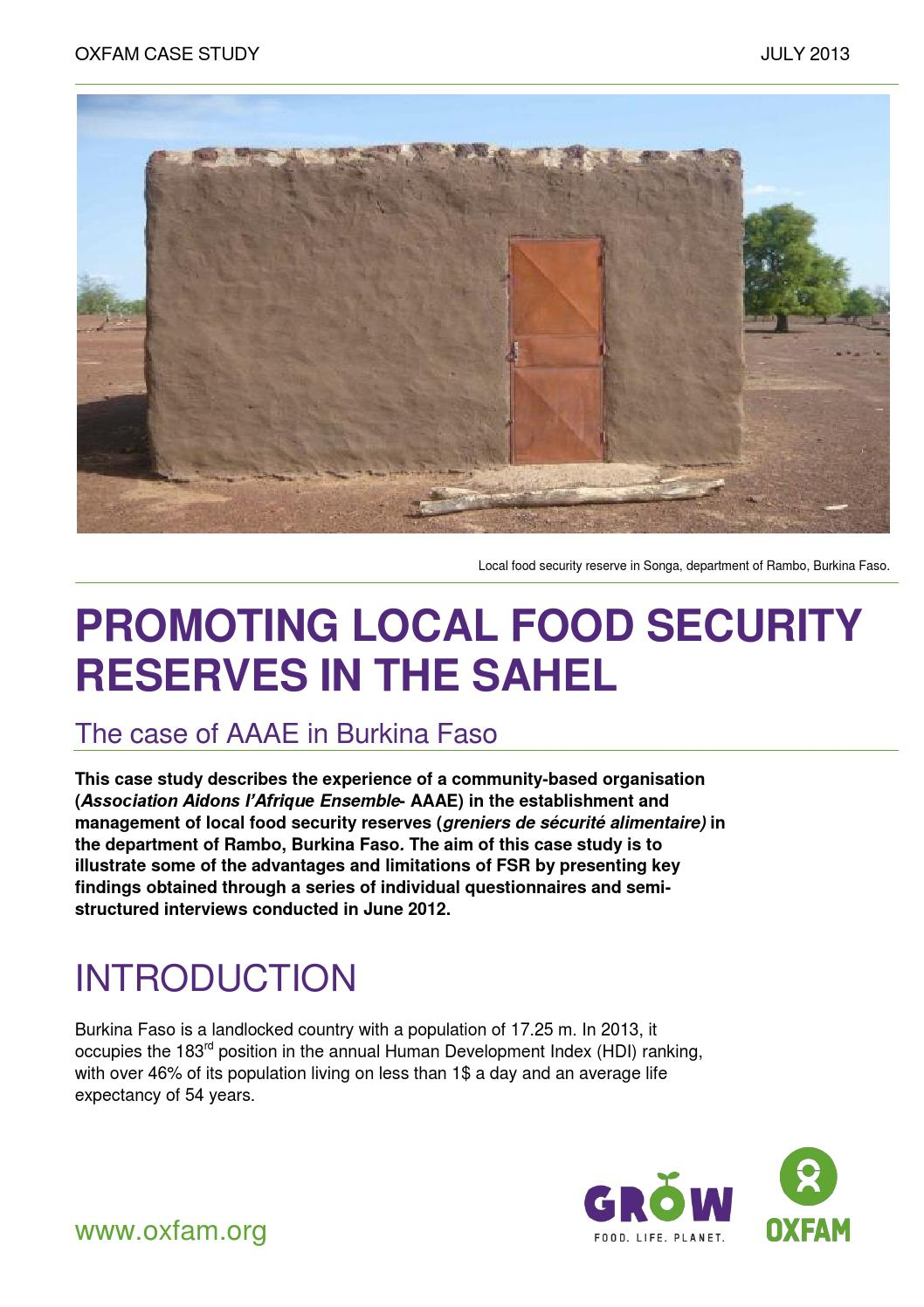 promoting local food security reserves in the sahel oxfam cs promoting local food security re 3 years ago 0xfam