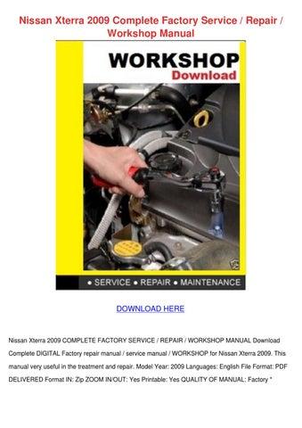 service manual nissan xterra n50 2009 2010 2011 repair manual pdf