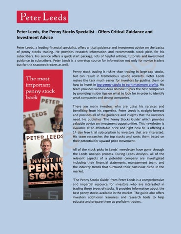 The Penny Stocks Guide is a comprehensive and impartial resource for