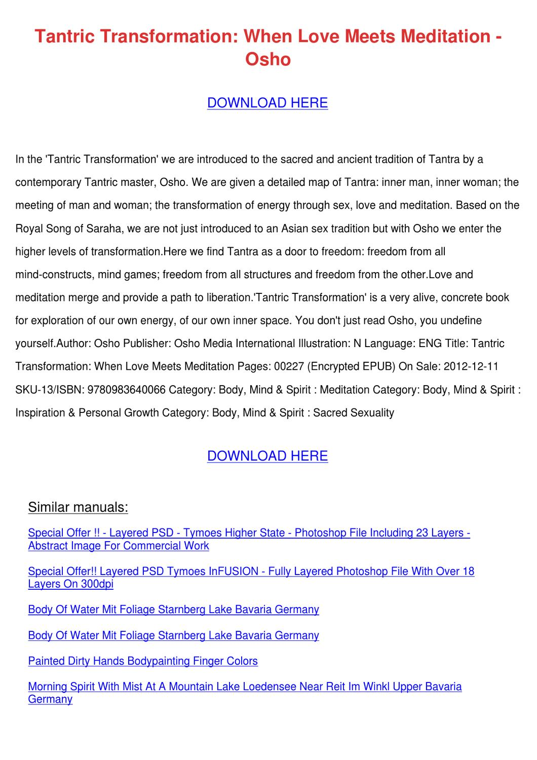 Tantric Transformation When Love Meets Medita By Tinastack Issuu