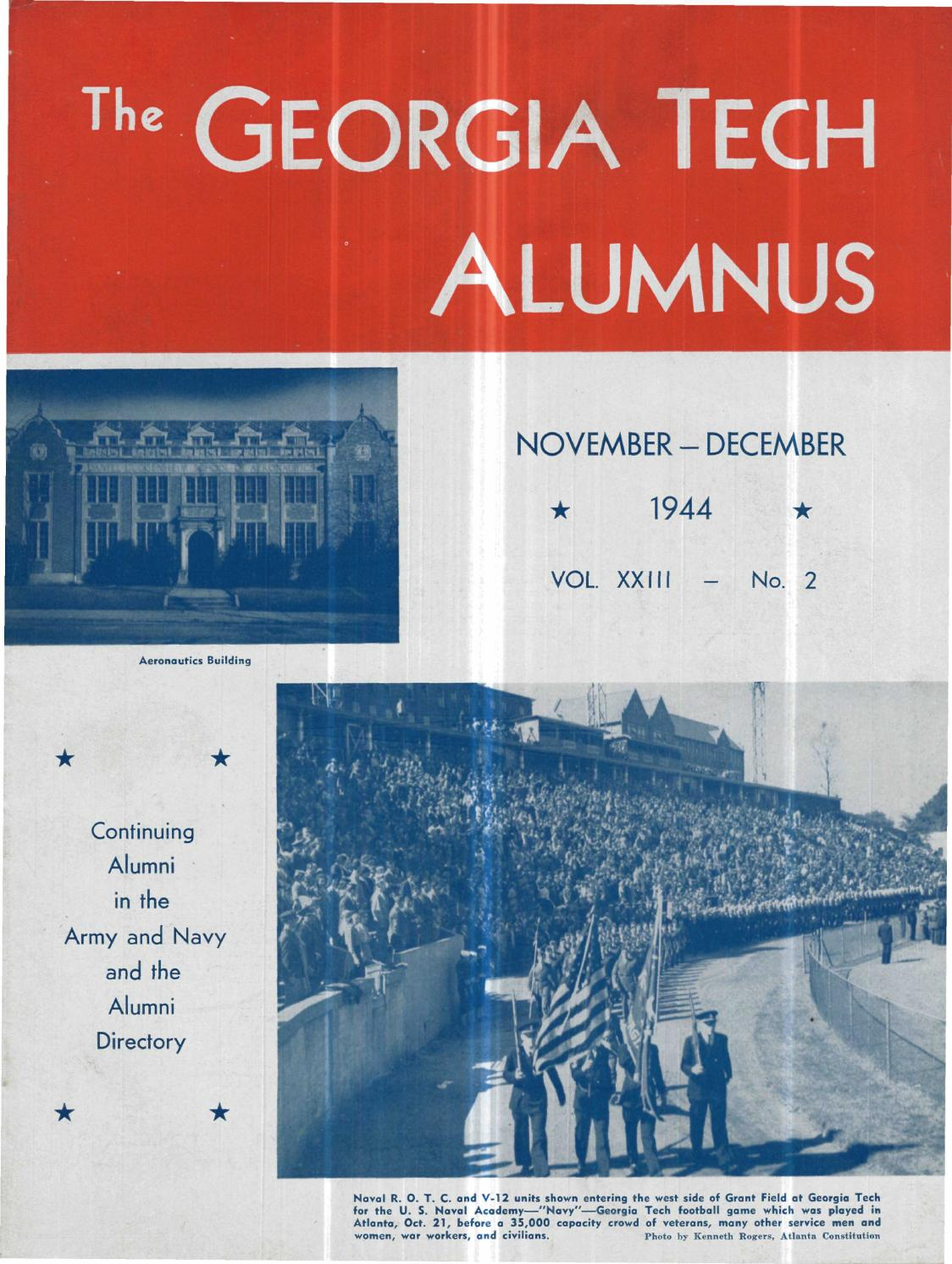 georgia tech alumni magazine vol 23 no 02 1944 by georgia tech