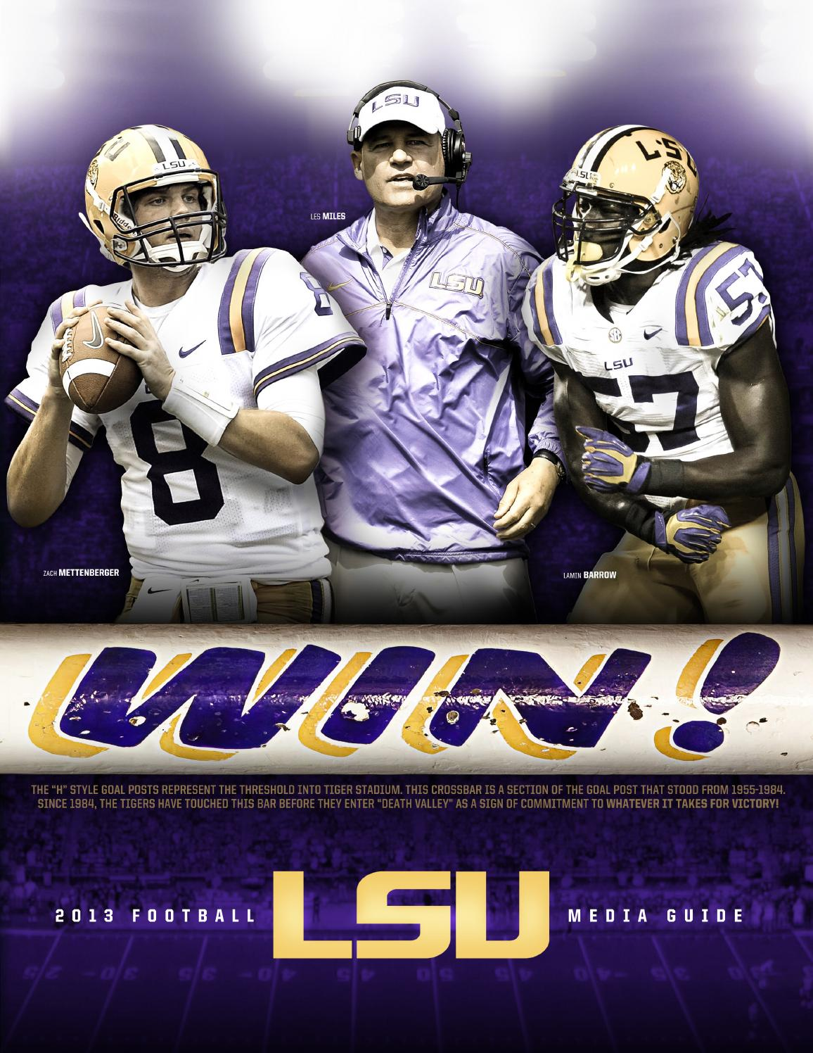 ae6a49181c9 2013 LSU Football Media Guide by LSU Athletics - issuu