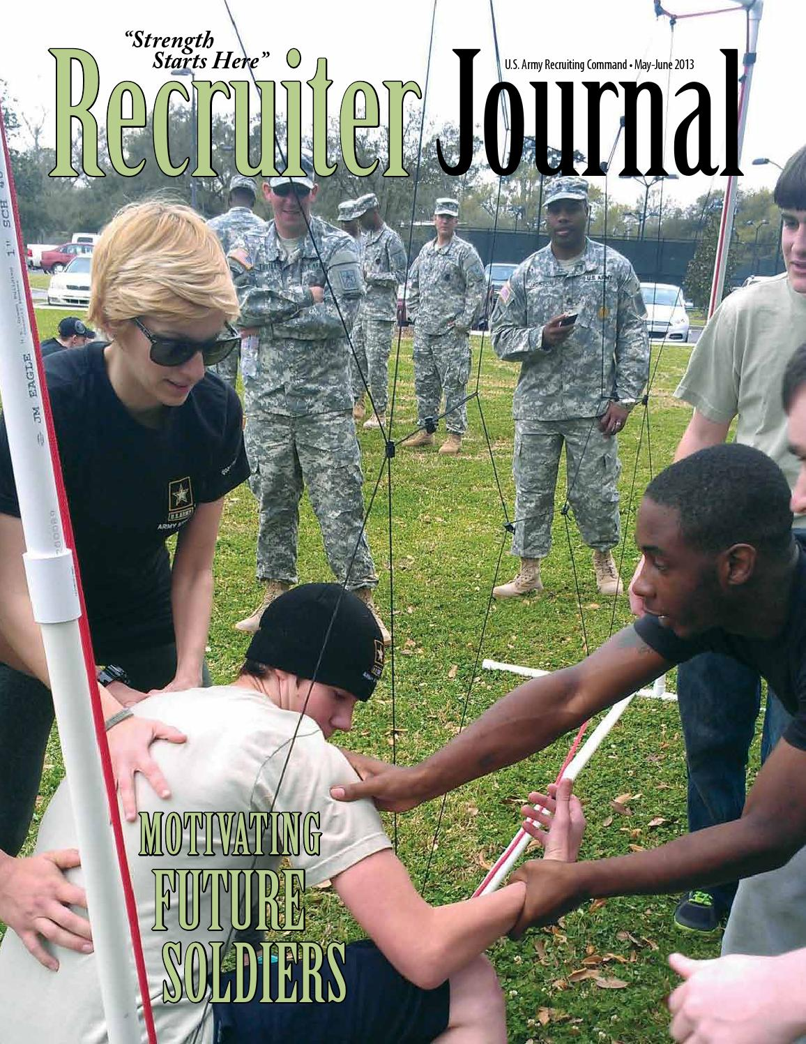 Recruiter Journal May-June 2013 by US Army Recruiting Command - issuu