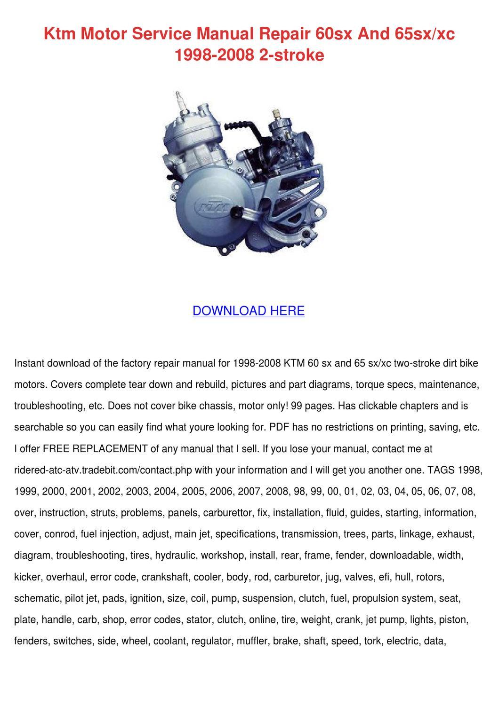 Service Manual Ktm 65sx