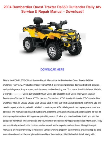 2004 bombardier quest traxter ds650 outlander by mattmcalister issuu rh issuu com Bombardier 500 2001 2004 Bombardier 500