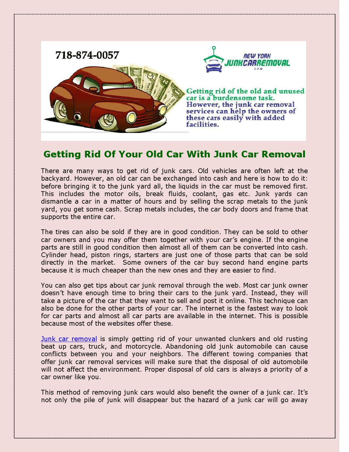 getting rid of your old car with junk car removal by jennifer rodriguez issuu. Black Bedroom Furniture Sets. Home Design Ideas