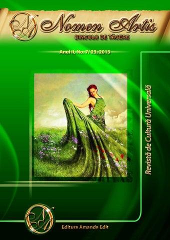 Revista Nomen Artis - Revista de cultura universala by Paun Mihai