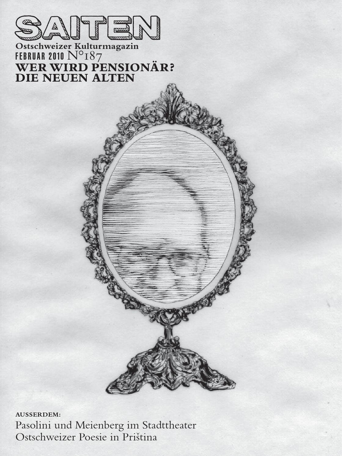 N°187 · Wer wird Pensionär? by Kulturmagazin Saiten - issuu