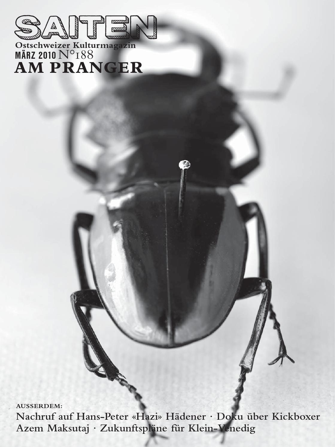 N°188 · Am Pranger by Kulturmagazin Saiten - issuu