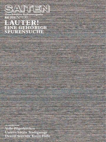 N°190 · Lauter! By Kulturmagazin Saiten   Issuu