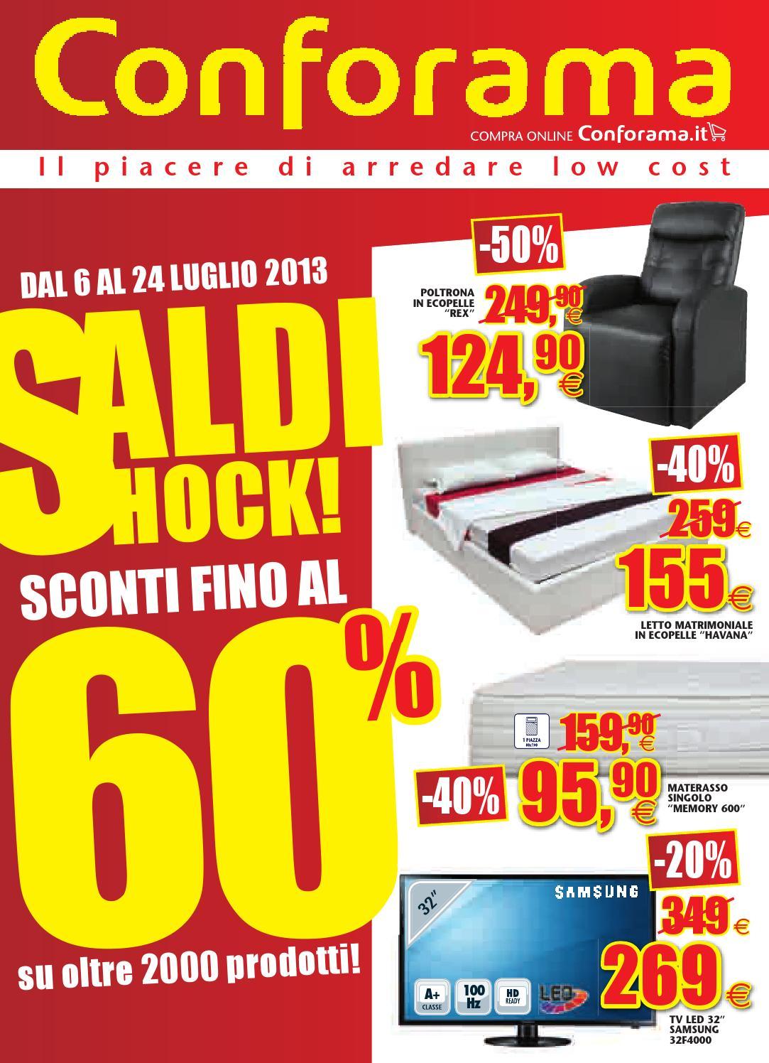 Conforama volantino 6 24 luglio 2013 by catalogopromozioni for Volantino conforama giarre