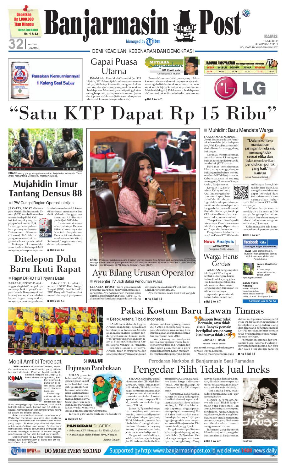 Banjarmasin Post Kamis 11 Juli 2013 By Banjarmasin Post Issuu