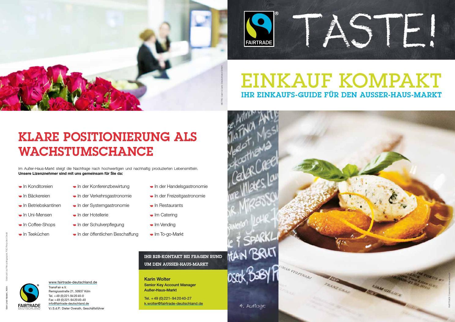taste einkauf kompakt by fairtrade deutschland transfair e v issuu. Black Bedroom Furniture Sets. Home Design Ideas