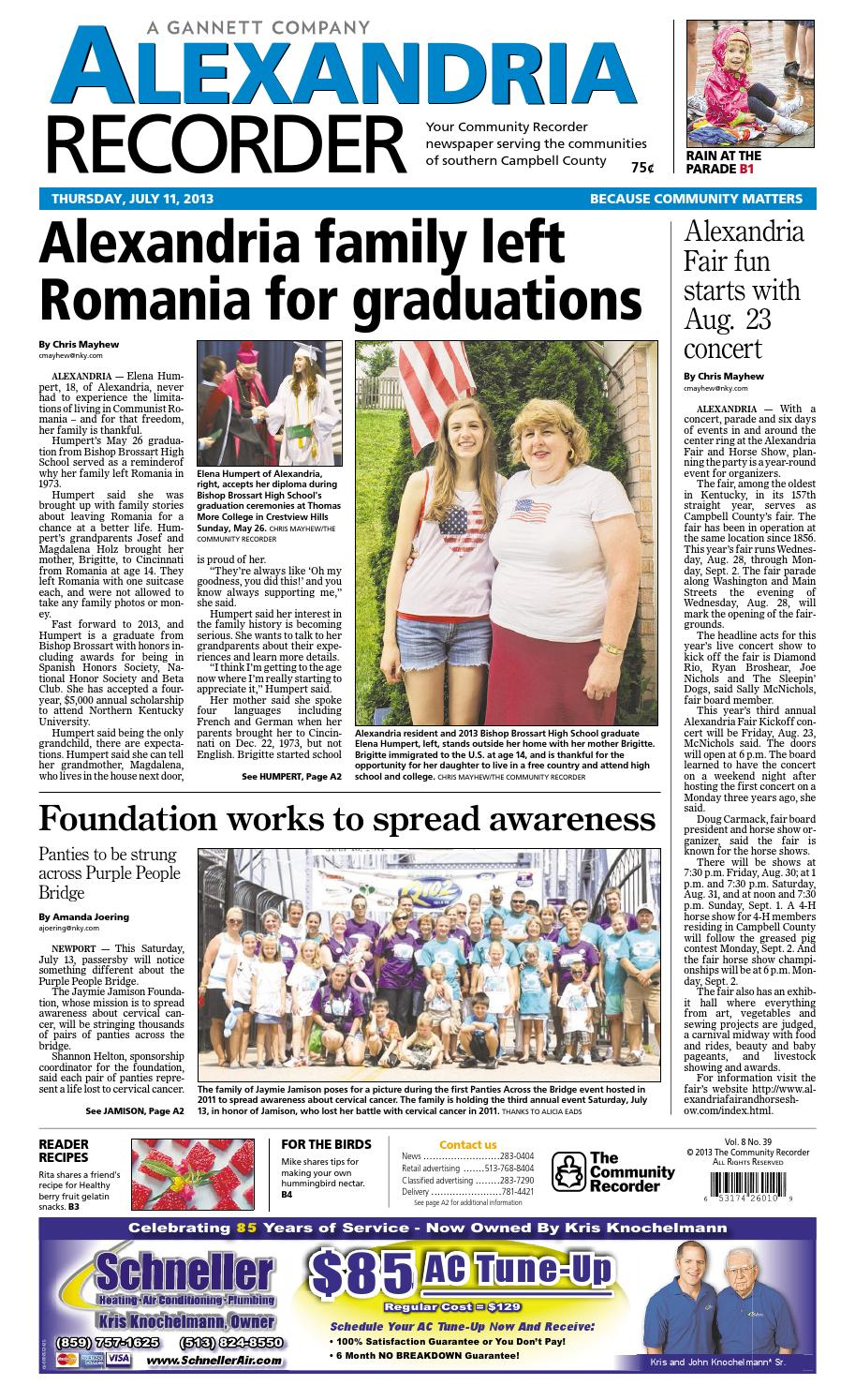 Alexandria recorder 071113 by Enquirer Media - issuu