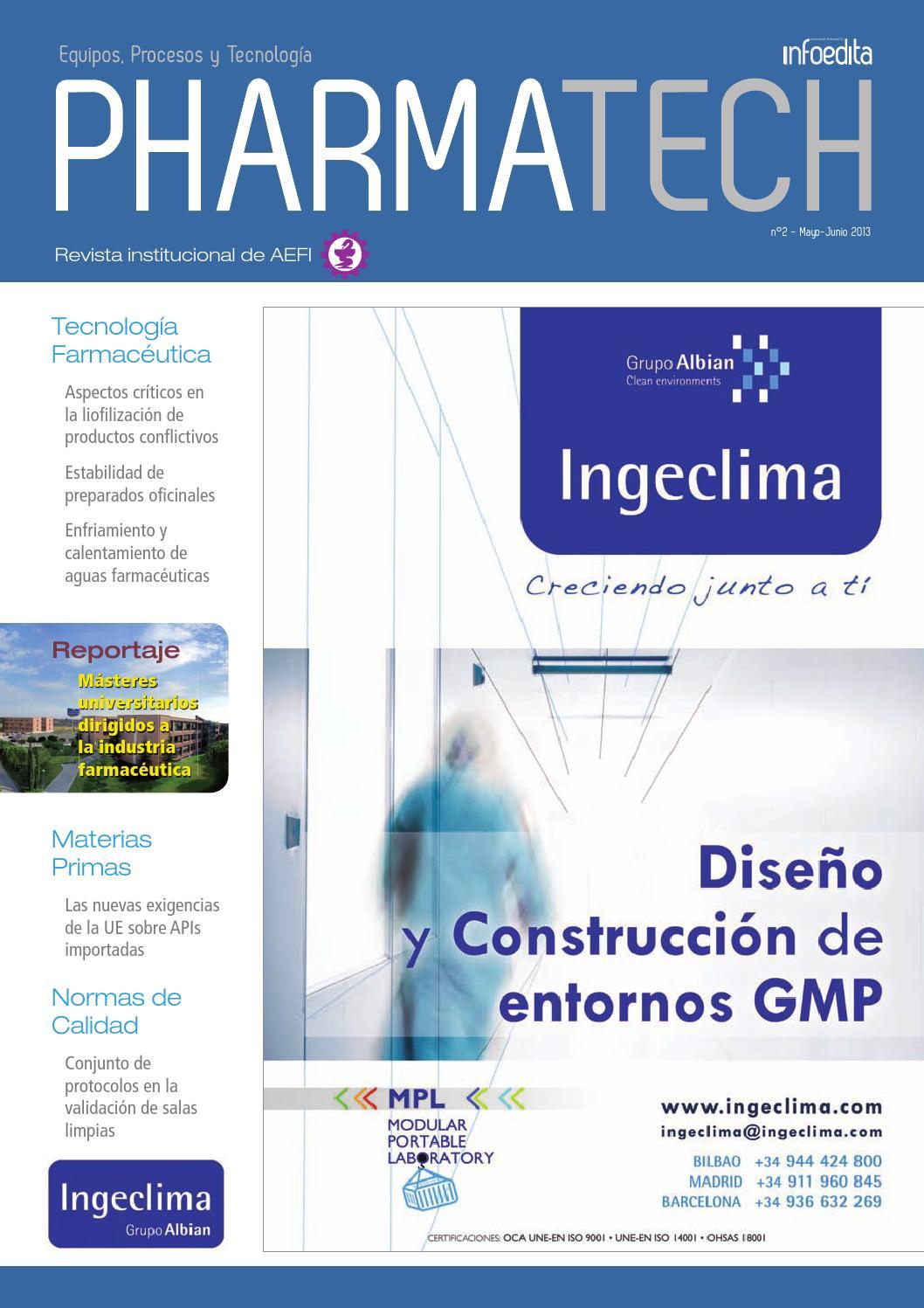 Pharmatech Mayo/Junio 2013 by Infoedita Comunicacion Profesional - issuu