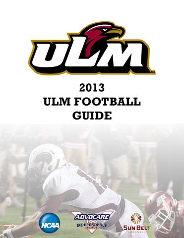 2013 ULM Football Guide by ULM - issuu baecb1cbb