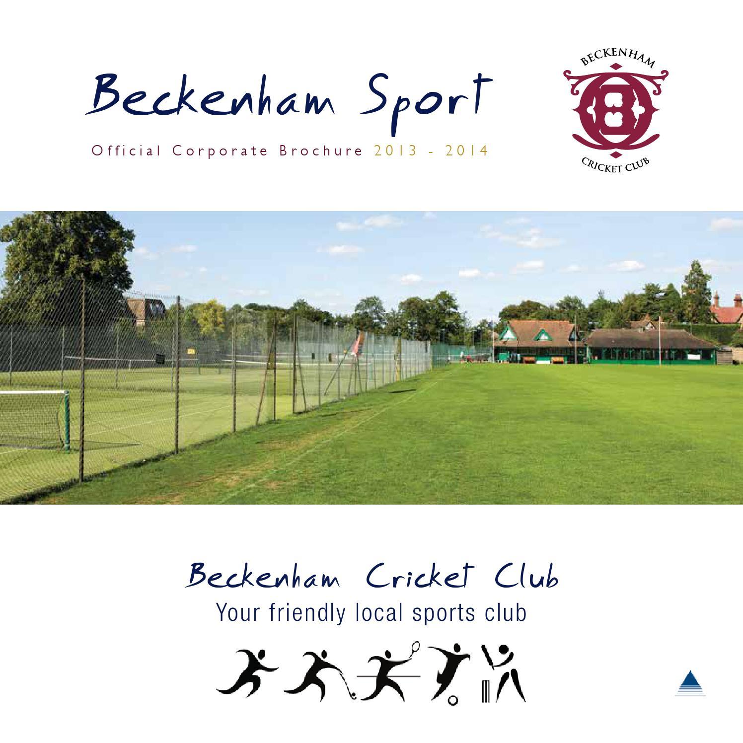 Beckenham Sport Club Brochure 2013 By Global Sports Media