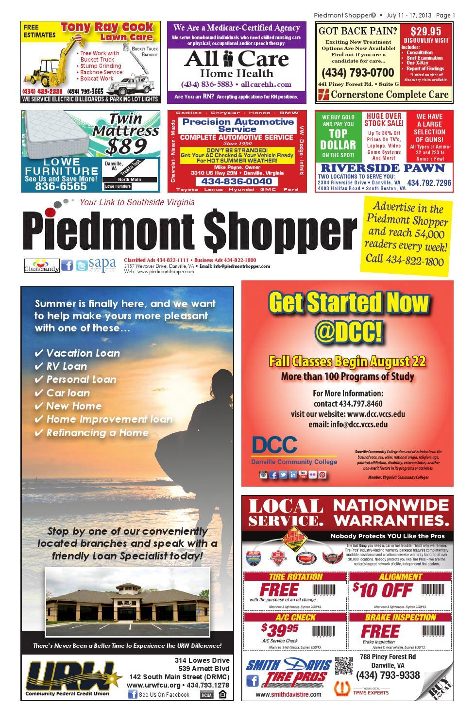 Piedmont Shopper 07 11 13 by piedmont shopper - issuu