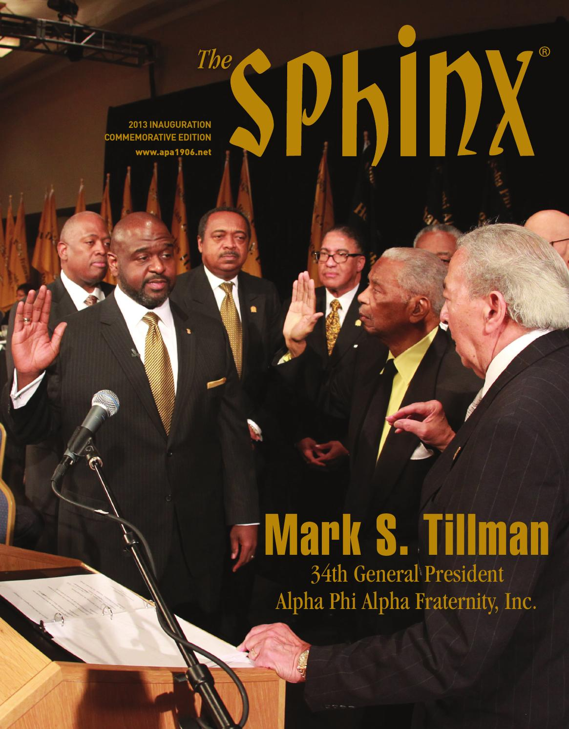 sphinx 2013 inaugural edition by alpha phi alpha