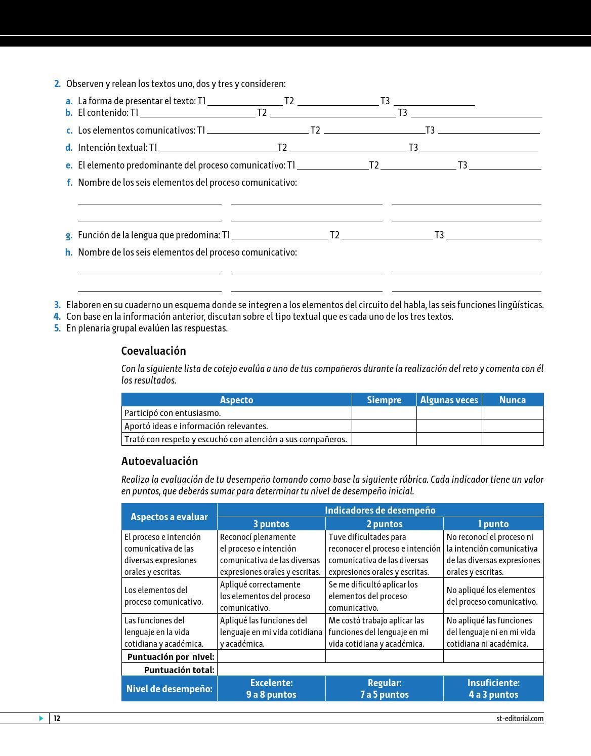 Circuito Del Habla : Taller de lectura y redacción 1 by eseté editorial issuu