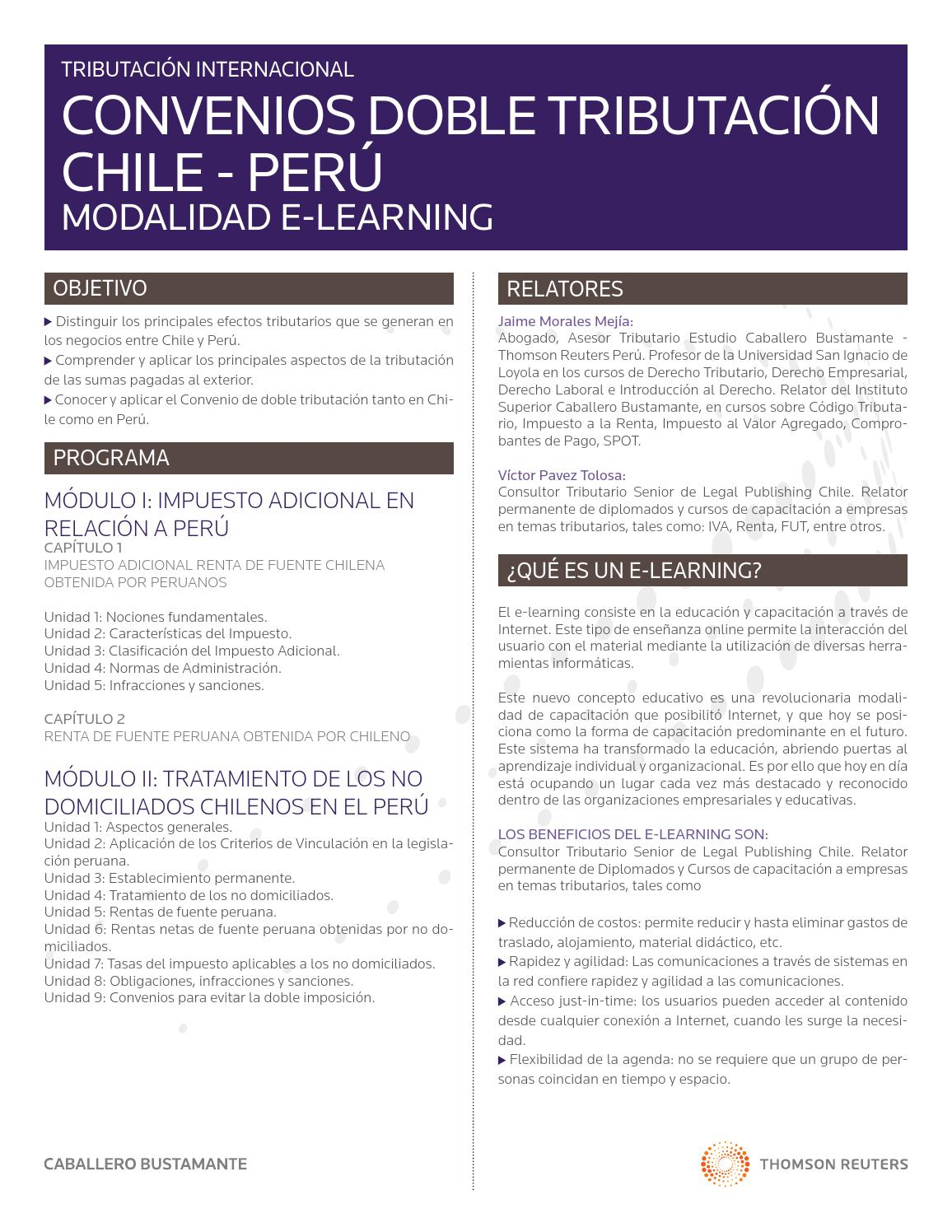 Ficha Convenios Doble Tributación Chile - Perú by