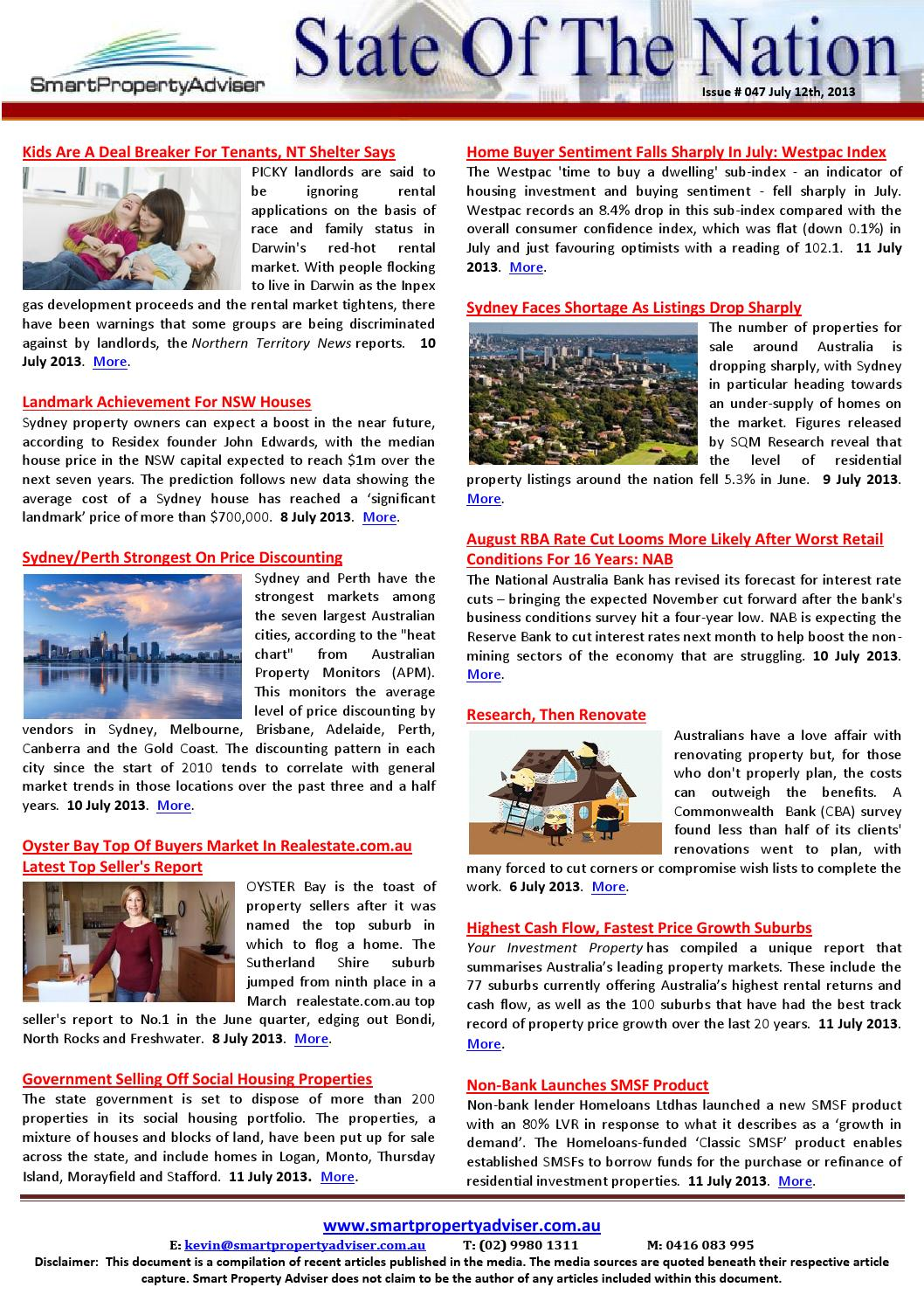 State Of The Nation Issue 47 July 12 2013 By Smart Property