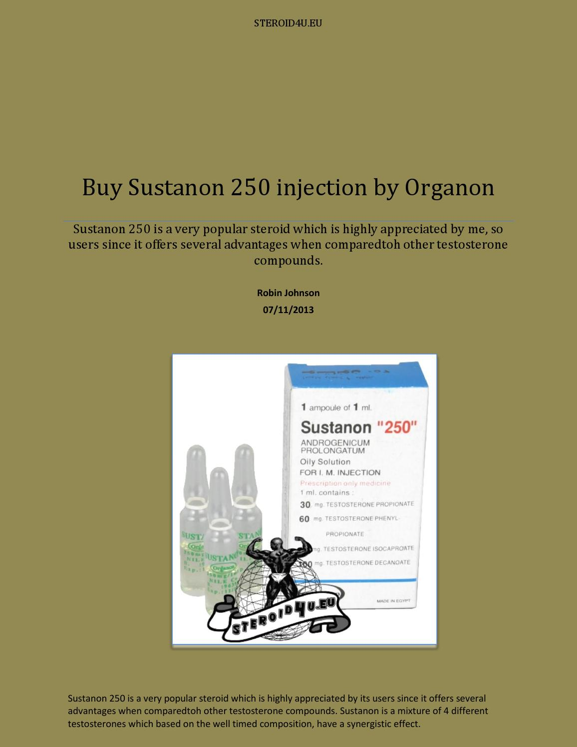 Buy sustanon 250 injection by organon by Robin Johnson - issuu