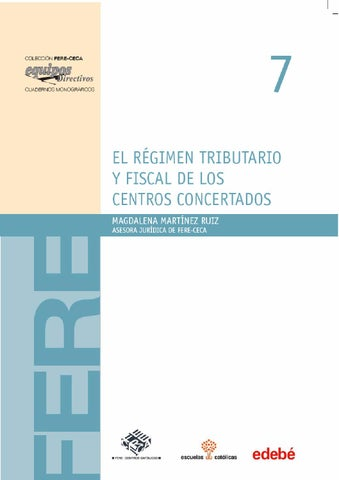 El Régimen Tributario Y Fiscal De Los Centros Concertadas By