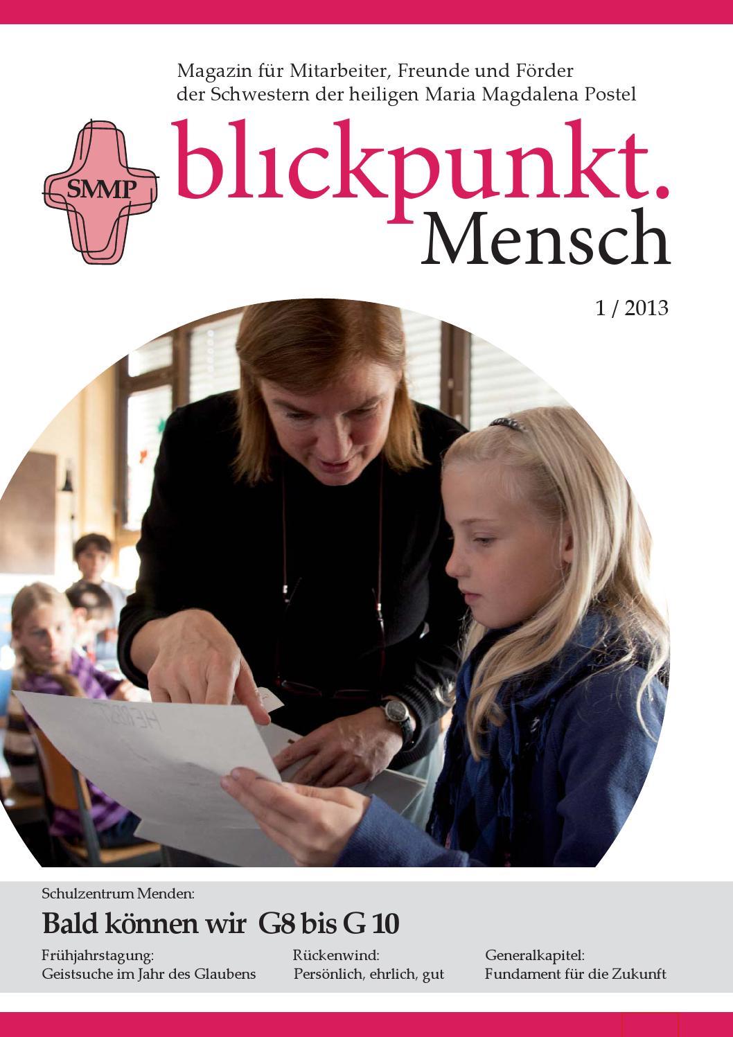 blickpunkt mensch 1 2013 by schwestern der heiligen maria. Black Bedroom Furniture Sets. Home Design Ideas