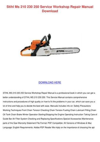 stihl ms 880 service manual hotfile