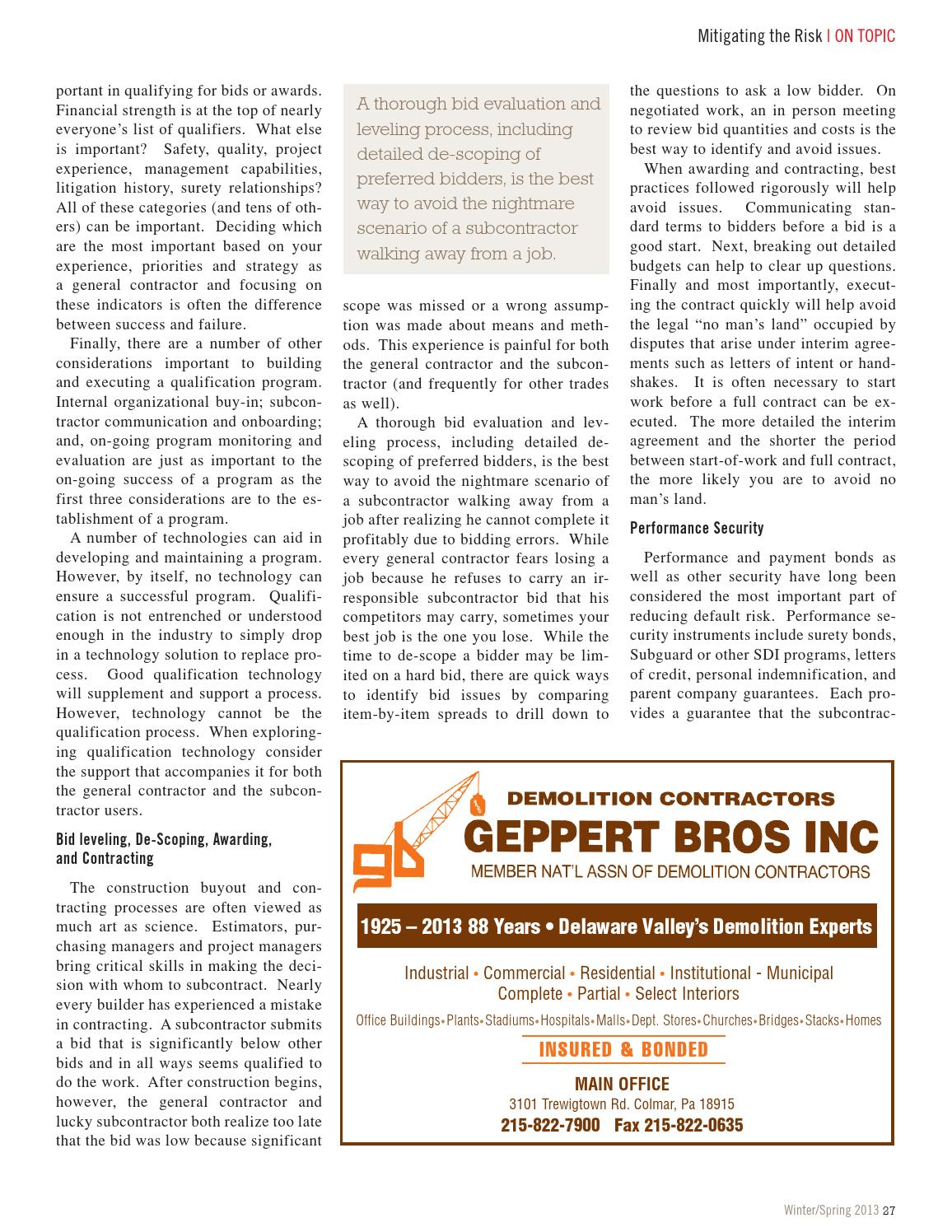Construction Today Winter Spring 2013 By General Building Contractors Association Issuu