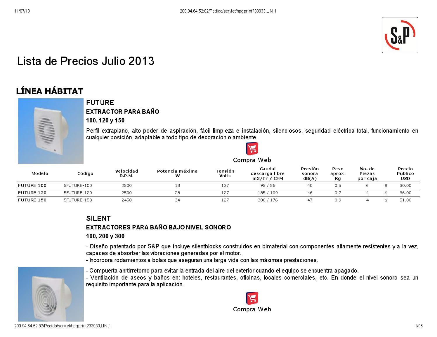 Lista de precios s&p by Refrigeración Lozano - issuu