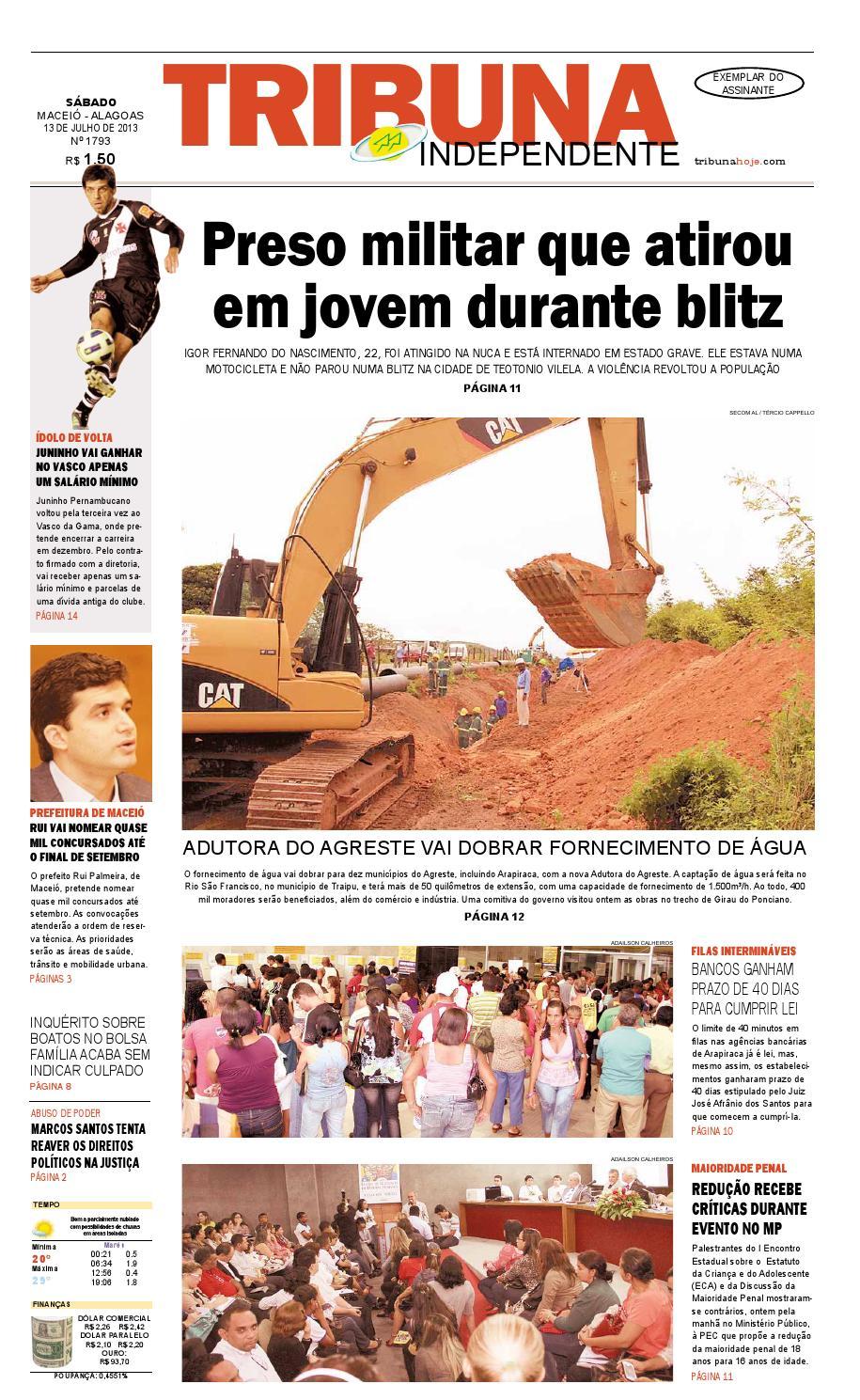 e88c9825fb Edição número 1793 - 13 de julho de 2013 by Tribuna Hoje - issuu