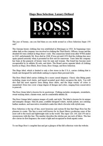 4c7c647fa6b Hugo boss selection luxury defined by Md Papon - issuu