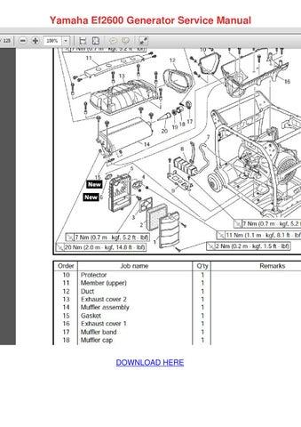 yamaha ef2600 generator service manual by esperanzadenman issuu rh issuu com Yamaha Generator EF2600 yamaha ef2600 generator manual
