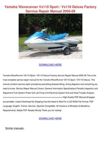 yamaha waverunner vx110 sport vx110 deluxe fa by esperanzadenman issuu rh issuu com 2006 yamaha waverunner vx110 deluxe service manual 2016 Yamaha VX Deluxe