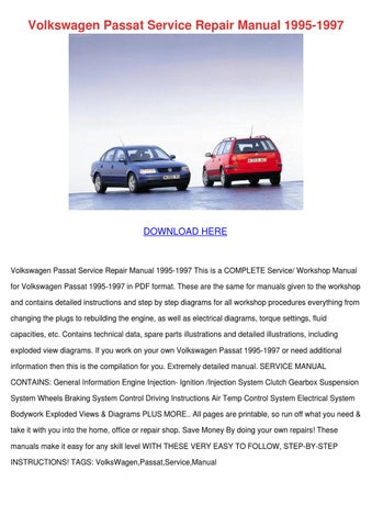 volkswagen passat service repair manual 1995 by shonaseal issuu