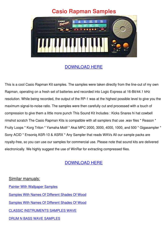Casio Rapman Samples by RobbinRaley - issuu