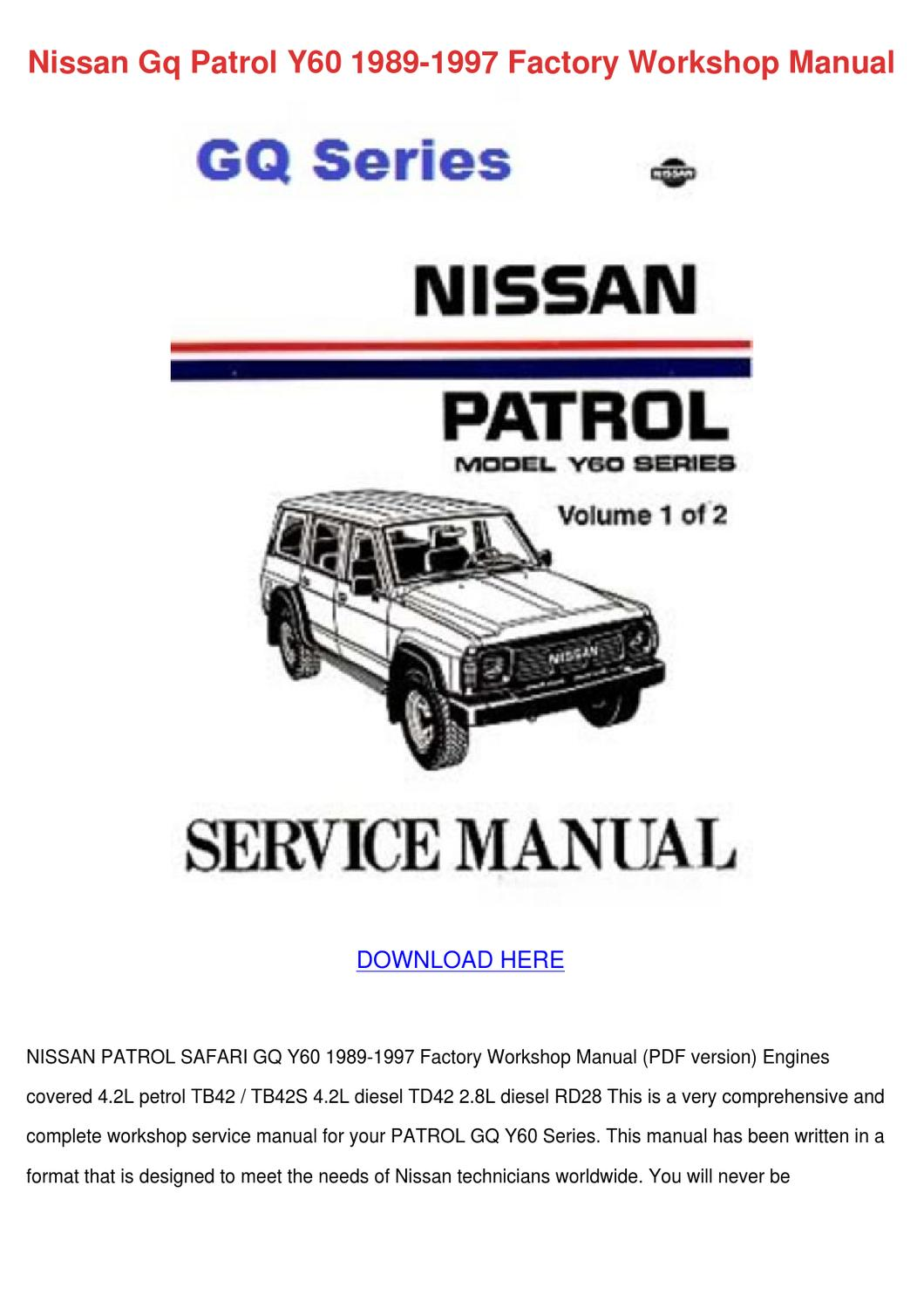 Manual Download Td42 patrol