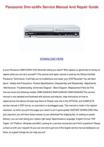 panasonic dmr ez49v service manual and repair by freemanestevez issuu rh issuu com panasonic dmr ez47v manual free panasonic dmr ez47v manual